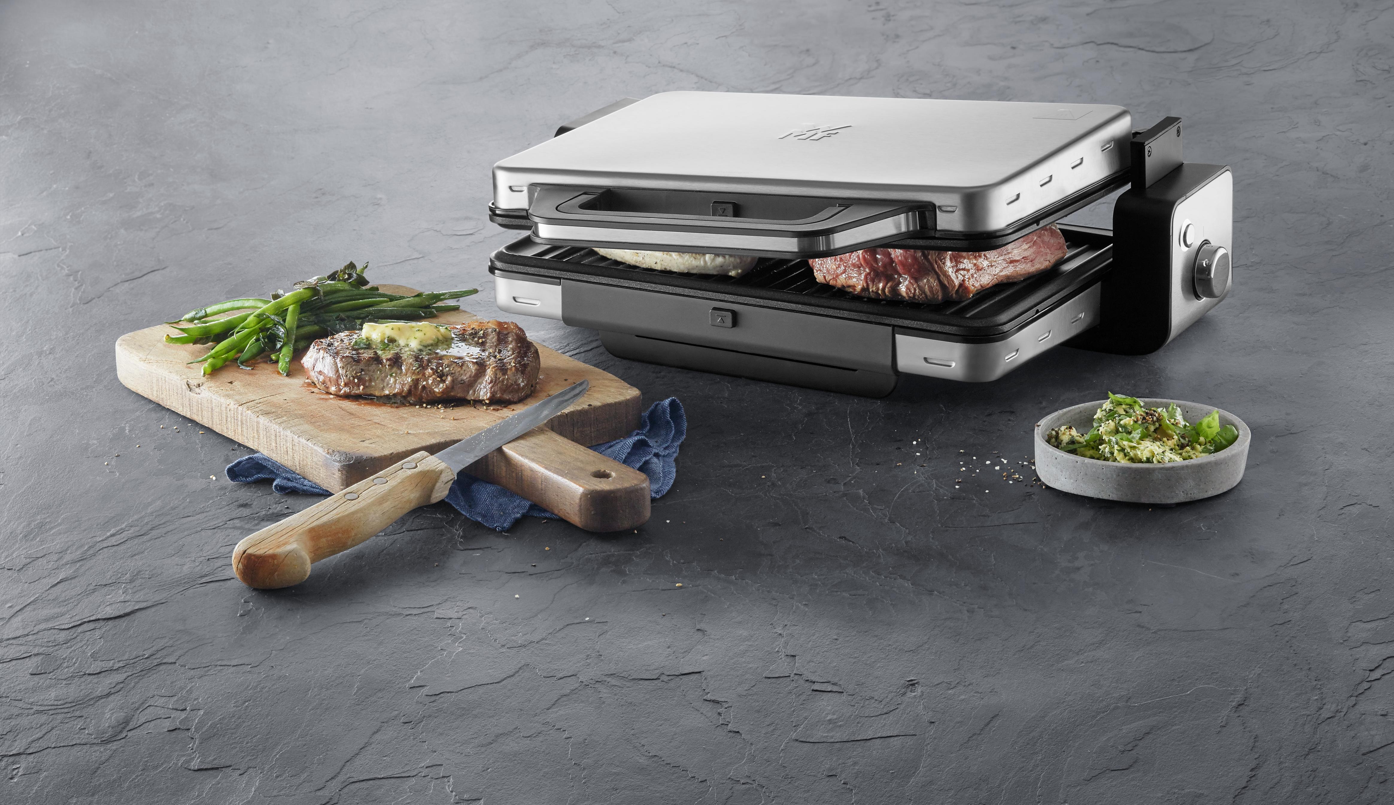 Kapalıyken tost, açıkken masaüstü ızgara makinesi.