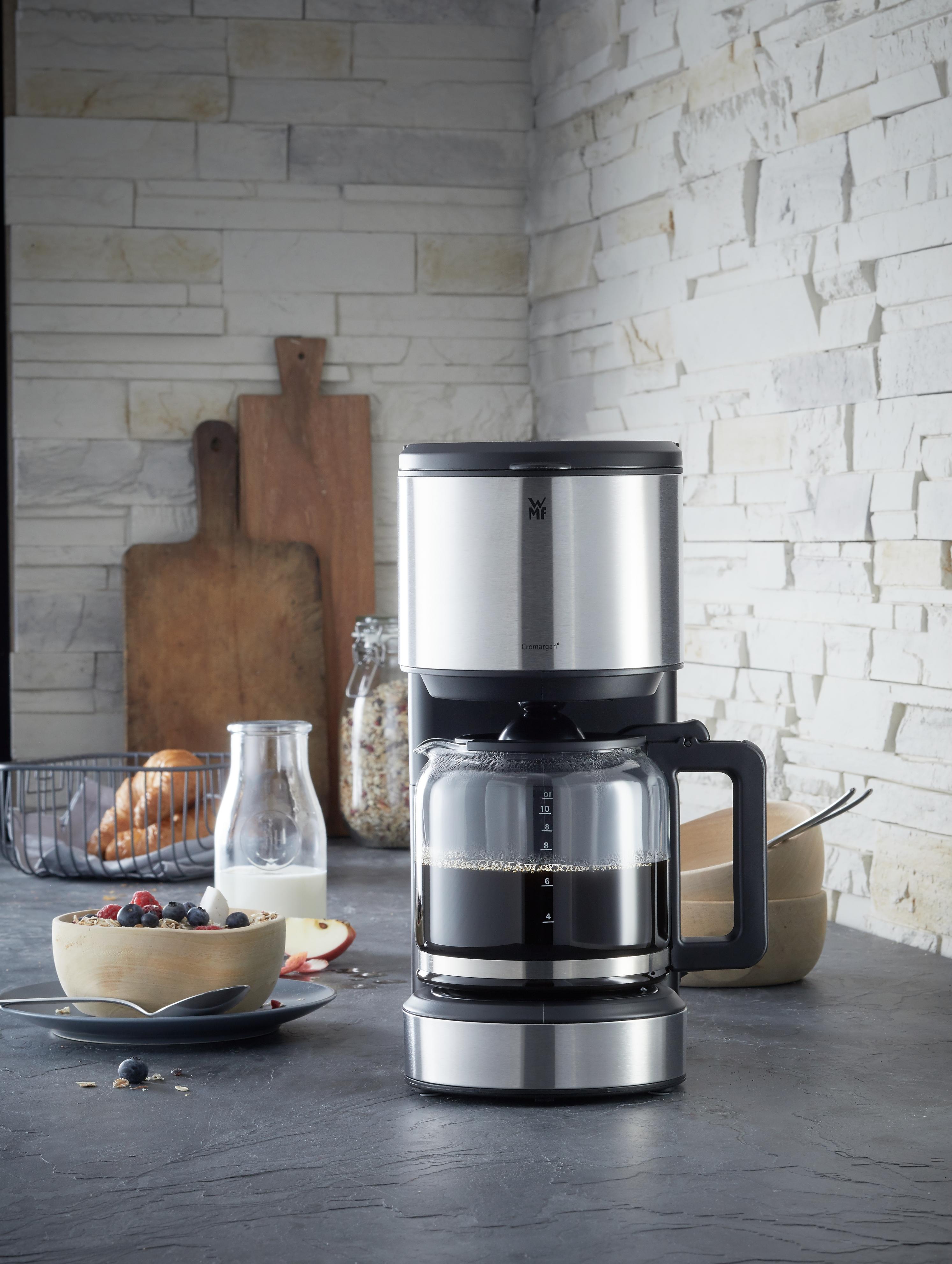 Kullanımı kolay, cam karaflı filtre kahve makinesi