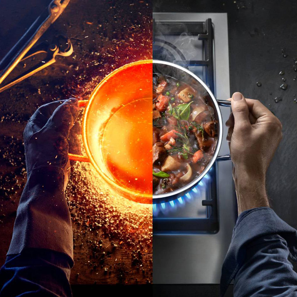 Yüksek performanslı esşiz bir materyal ile en iyi pişirme serisi.