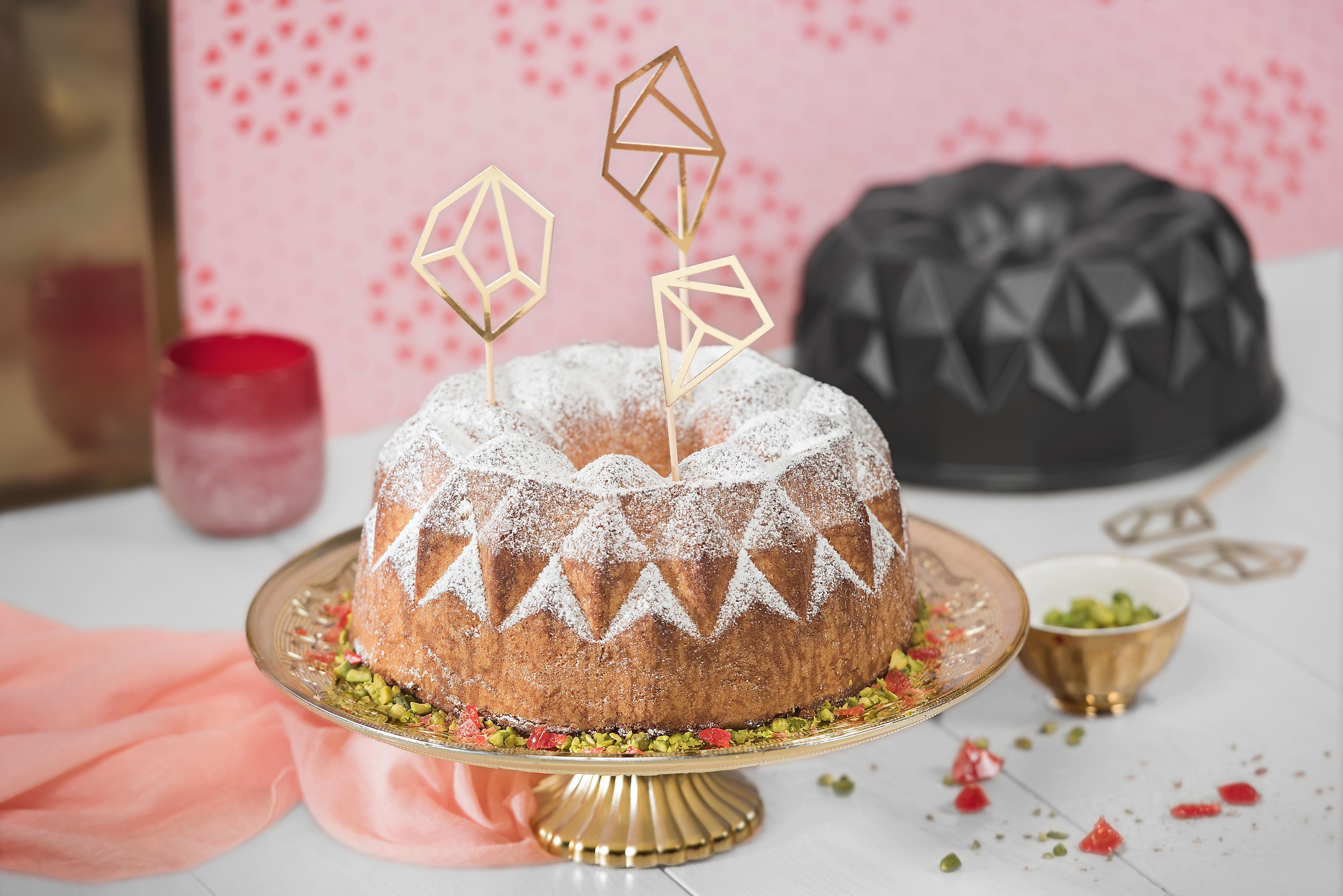 Kaiser Borulu Geometrik 25cm Kek Kalıbı: İlham dolu kekler ve pastalar