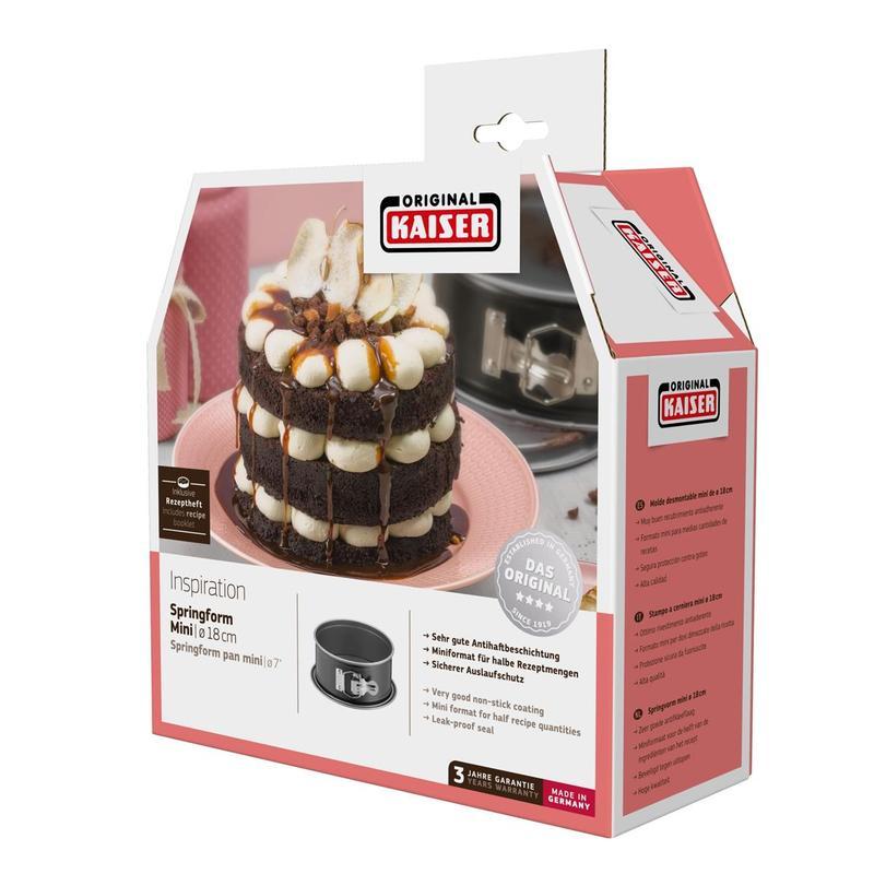 Kaiser Inspiration Kelepçeli Yuvarlak Mini 18cm Kek Kalıbı